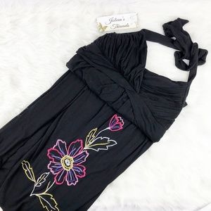 Torrid Flower Halter Top Maxi Dress